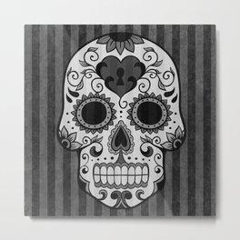 Día de los Muertos - Grey Metal Print