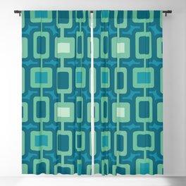 Mid Century Modern Square Columns aquamarine Blackout Curtain