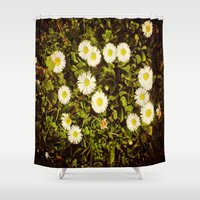 daisy Shower Curtains featuring Daisy by ArtSchool
