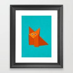 Cute Origami Fox Framed Art Print