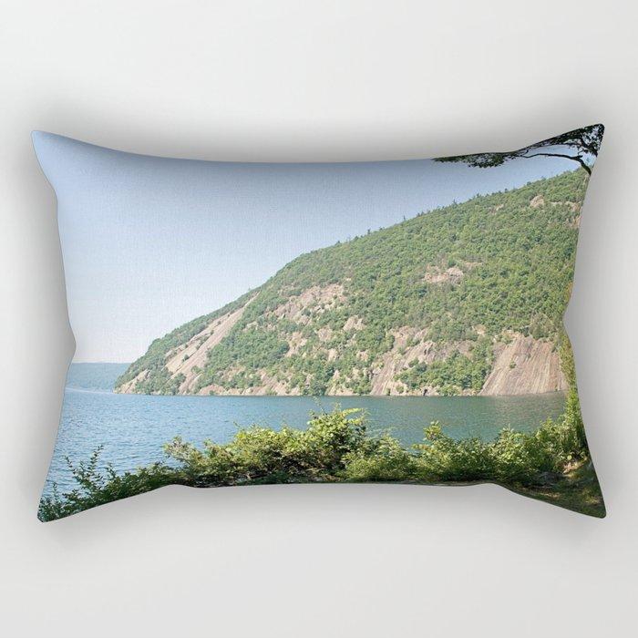 Roger's Rock on Lake George, NY Rectangular Pillow