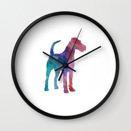 Irish Terrier in watercolor Wall Clock