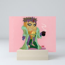 Woke Up on the Wrong Side of the Head Mini Art Print