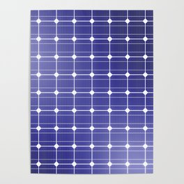 In charge / 3D render of solar panel texture Poster