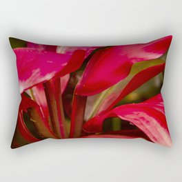 Breathtakingly Bright Ruby Red Leaves Rectangular Pillow