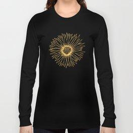 Minimalist Sunflower Long Sleeve T-shirt