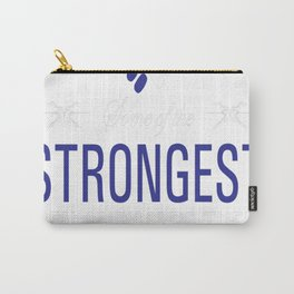 Strongest Men are Nurses Uplifting T-shirt Carry-All Pouch