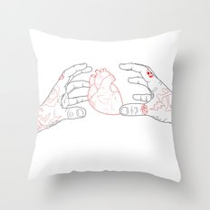 You're grabbing my heart Throw Pillow