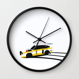 Quattro Slide Rally Car Wall Clock