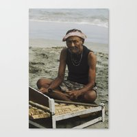 Musician in Bali Canvas Print
