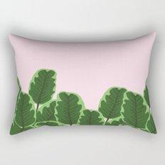 Banana Leaves and Pink Rectangular Pillow
