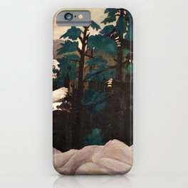 African American Masterpiece 'La Tigre Blu' - The Blue Tiger by Horace Pippen iPhone Case