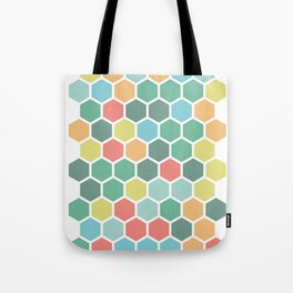 Texture hexagons - Spring's colors Tote Bag