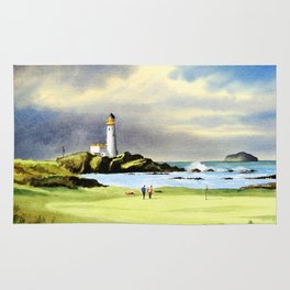 Turnberry Golf Course Scotland 10th Green Rug