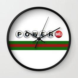 Powerball guci Wall Clock