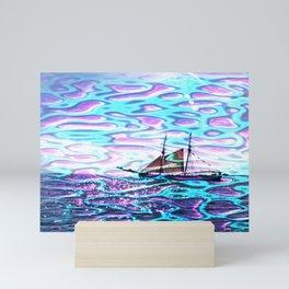 Ship fata morgana Mini Art Print