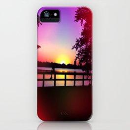Warm Summer Nights at Dusk iPhone Case