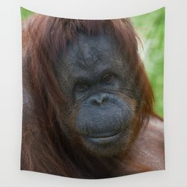 Orangutan Mother Portrait Wall Tapestry