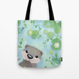 Otter in the Water Tote Bag