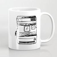 polaroid Mugs featuring polaroid by brittcorry