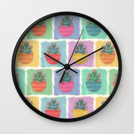 Potted Jade Plants Wall Clock