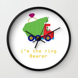 Boys Ring Bearer Dump Truck Wedding Party product Wall Clock