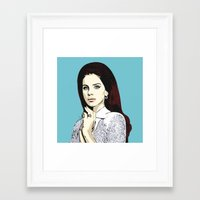 lana Framed Art Prints featuring LANA by DVNJCK