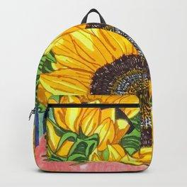 Sunflower Bouquet Art Backpack