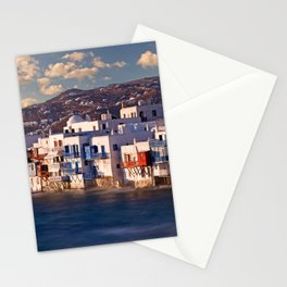 The picturesque Little Venice in Mykonos, Greece Stationery Cards