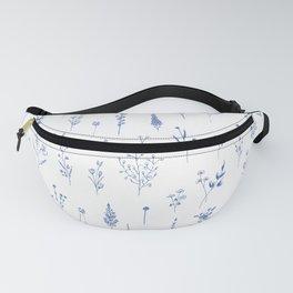 Wildflowers in blue Fanny Pack