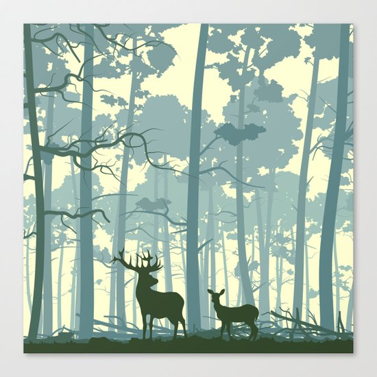 The Deers Canvas Print