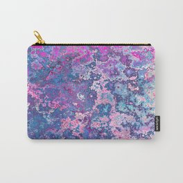 Paint Splatter in Blue Raspberry Carry-All Pouch