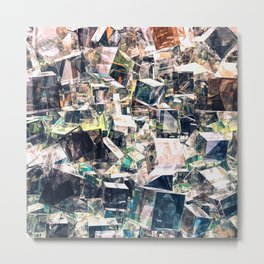 Chaotic Collection of Cubes Metal Print