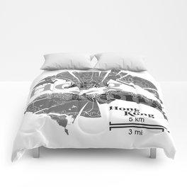 Hong Kong Map Comforters