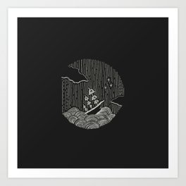 Ship at Sea Art Print