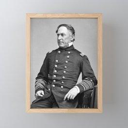 Admiral Farragut - Civil War Portrait Framed Mini Art Print