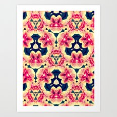 Kaleidoscope Orchids Art Print