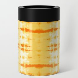 Satin Shibori Yellow Can Cooler