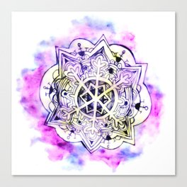 Watercolor mandala 2 Canvas Print