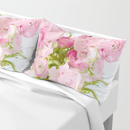 Dreamy Shabby Chic Ranunculus Peonies Roses Print - Spring Summer Garden Flowers Mason Jar by kathyfornal