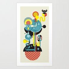Blue Monster. Art Print