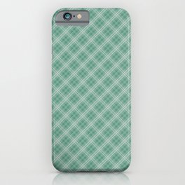 Christmas Green Holly and Ivy Tartan Check Plaid iPhone Case