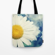 With the clouds! Tote Bag