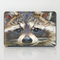 racoon iPad Cases featuring Little Racoon by Gene S Morgan