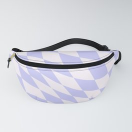 Warped Check - Periwinkle  Fanny Pack