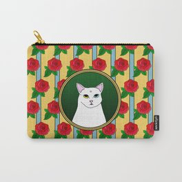 Fat D. Loves Roses Carry-All Pouch