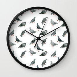 ALL THE PIGEONS! Wall Clock