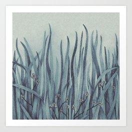 Green-Blue Grass Art Print