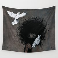 mother Wall Tapestries featuring Mother by Angie Milo