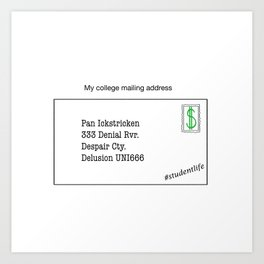 College Mailing Address Art Print
